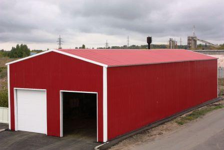 Строительство складов на базе ангаров