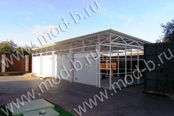 Строительство гаража на 4 автомобиля в